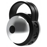 Серебристо-черный клиторальный стимулятор Cute Bullet