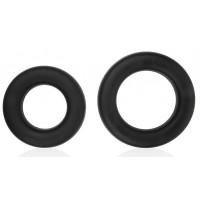 Набор из двух черных эрекционных колец Sex Expert