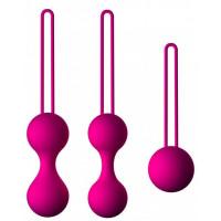 Набор из 3 вагинальных шариков Кегеля розового цвета