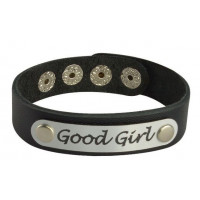 Кожаный браслет Good Girl