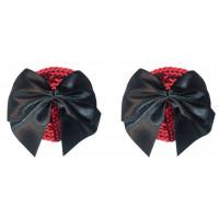 Красные пэстисы Blaze с черными бантиками