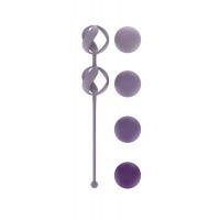 Набор из 4 фиолетовых вагинальных шариков Valkyrie
