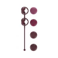 Набор из 4 бордовых вагинальных шариков Valkyrie