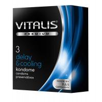 Презервативы VITALIS PREMIUM delay   cooling с охлаждающим эффектом - 3 шт.