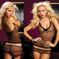 Леопардовый легкий пижамный комплект