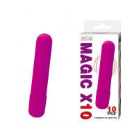 Фиолетовая вытянутая вибропуля - 10,2 см.