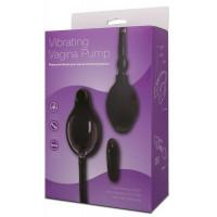 Чёрная вибропомпа для вагины с 7 режимами вибрации VIBRATING VAGINA PUMP