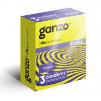 Тонкие презервативы для большей чувствительности Ganzo Sence - 3 шт.