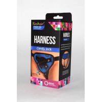 Сине-чёрные трусики-джоки Kanikule Strap-on Harness universal Comfy Jock с плугом и кольцами